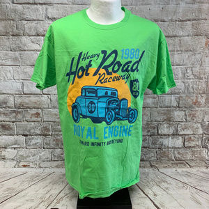 Fruit of the Loom Mens Graphic Tee Hot Rod Size L